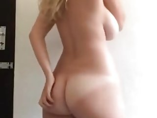Blonde with Huge Tits Undressing 2