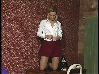 blonde teen strips