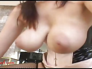 Massive huge giant real titty whore takes monster