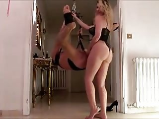 Blonde Mistress Strapon Slave