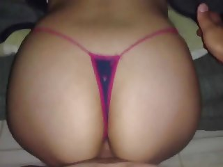 CUMMING ON MY SISTER ASS, LITTLE CHIC THONG!!!