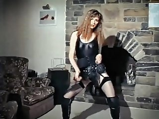 LET'S GO CRAZY - vintage leather rock chick strip dances