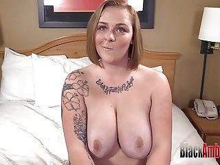 Big Tits Redhead Surprised by Big Black Cock