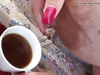 Extra Coffe With Fresh Milk From HUGE BOOBS !