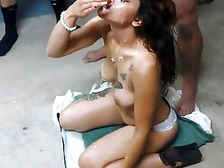Amateur Bukkake Latina Facial