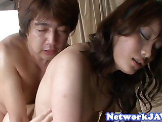 Double penetrated asian milf gets pounded