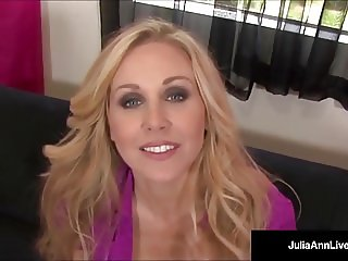 Busty Blonde Milf Julia Ann Kneels POV To Suck Your Cock!