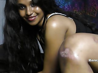 HornyLily SexyStrip Dance Oiling and Fingering Asshole