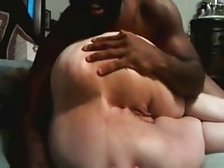 Black Guy Plays With White BBW Ass
