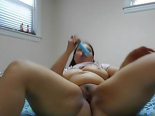 Ginger Paris Just Playing with her favorite blue vibrator