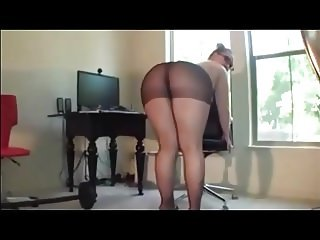 Big Ass In Black Pantyhose