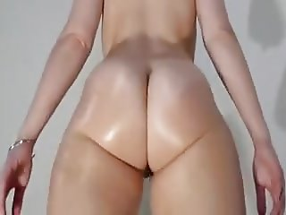 A.A oiled ass flexing