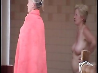 Naked girls caught in a sauna shower (4)