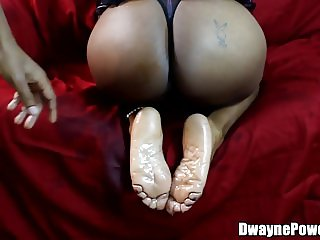 Mature Black Lady Making Him Cum On Her Feet
