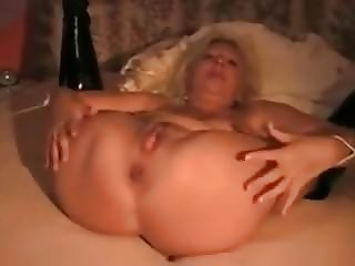 Blonde granny tied and submissive