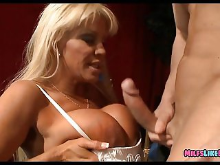 Old Mature Blonde has Huge Rack