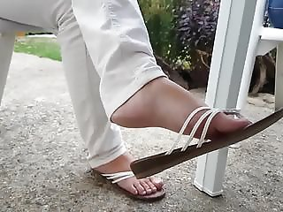 Candid mature Small feet