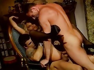 Cougar in lingerie double penetration