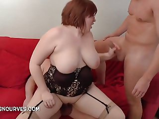 Young wife destroyed by two big cocks