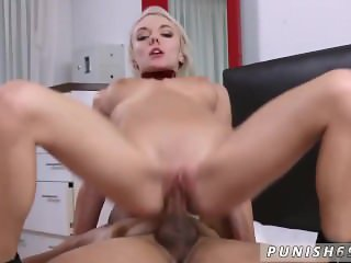 Ring gag blowjob and crazy hardcore squirt