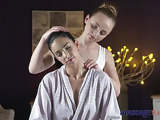 Massage Rooms Face sitting orgasms for horny young lesbian