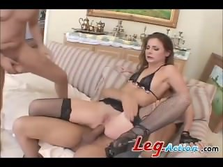 Payton Leigh Hot GangBang Double Pounded
