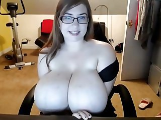Huge tits, then deepthroat webcam