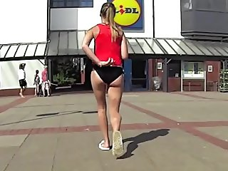 Teenage ass in town