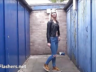 Blonde milf Atlantas public flashing and outdoor exhibition