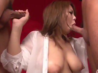Amazing hardcore sex with big boobs woman Kanna Itou
