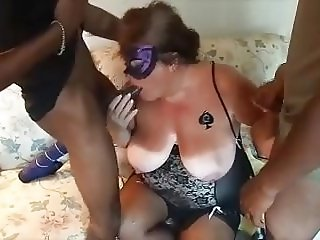 Cheating Whore Wife worshiping Big Black Cocks
