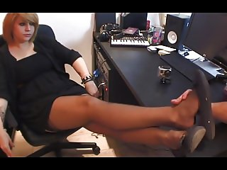 sexy french girl in ballet flats teasing your feet