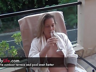a day at the hotel with your amateur wife on livecam