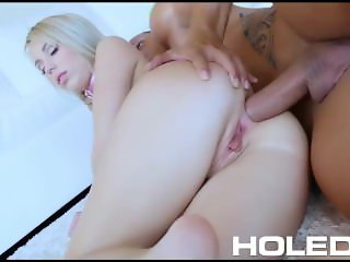 HOLED Anal pounding fuck with tiny petite blonde Kira Thorn