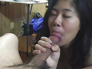 Asian gf sucks like a pro