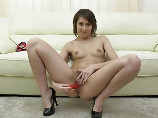 Lovely MILF Meggie with hairy thirsty vagina