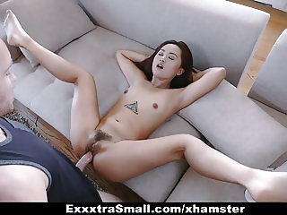 ExxxtraSmall - Cute Petite Thief Fucked By Two Cocks