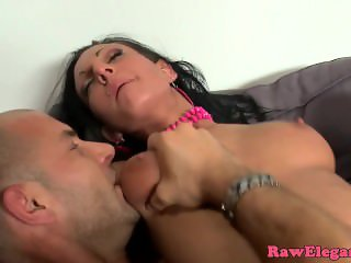 European slut screwed roughly on couch