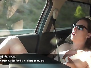 masturbation in my car livecam for the voyeurs on my site