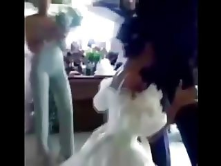 Real Life Bride Blowjob on Her Wedding in front of Everybody