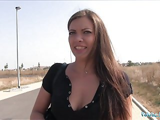 Public Agent Ellie Springlare gets cash in hand and cock