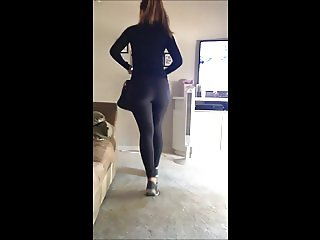Someone's sister getting ready for the Gym leggings