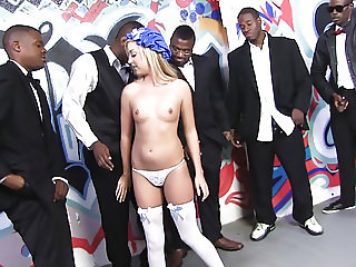 Callie Cobra Tries BBC Interracial Gangbang