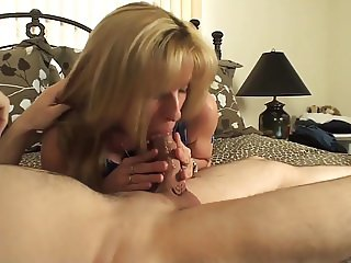54 year old MILF gets a 19 yo boy as a birthday present