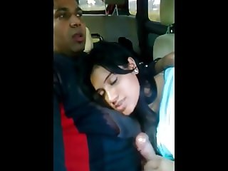GF sucking cock inside car full vid. on indiansxvideo . com