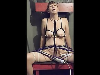Dayonara tied to chair and forced to orgasm