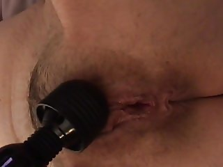 Close up hairy wife getting off