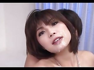 Japanese - Hot Big Naturals Babe CIM Bukkake