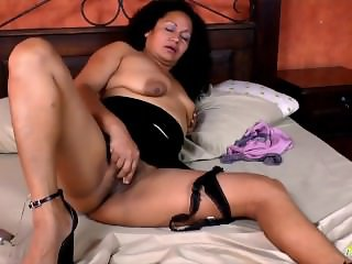 LatinChili Mature Sharon Solo Toys Masturbation