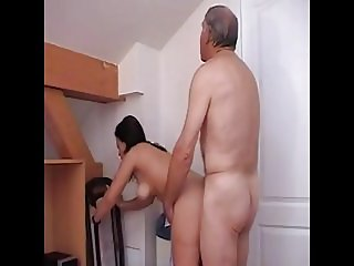 18 Year Old Teen Fucks Friend's Dad For Money